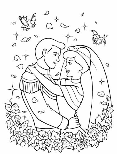 Il principe e cenerentola finalmente sposi