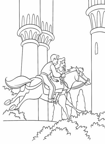 il principe porta cenerentola a cavallo
