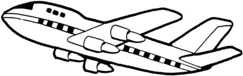 immagine aereo da colorare