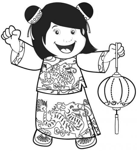 bimba cinese felice