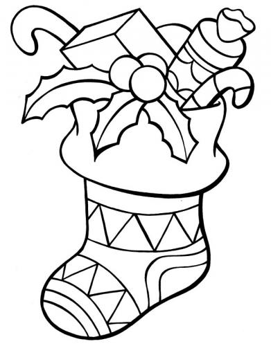 Calza della Befana decorata