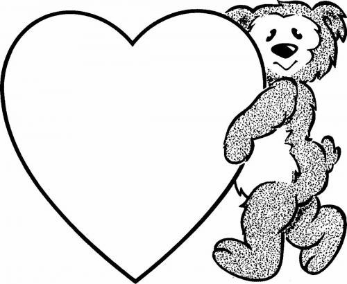 immagine cuore e orso