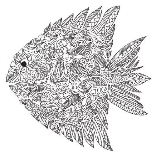 pesce da colorare