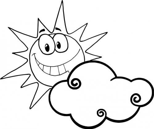 sole dietro la nuvola