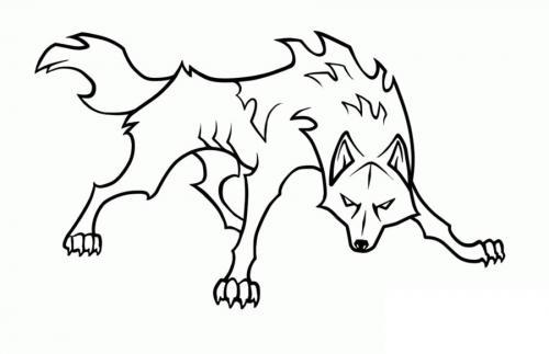 immagine di lupo da colorare