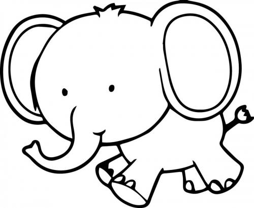 immagine elefante da colorare