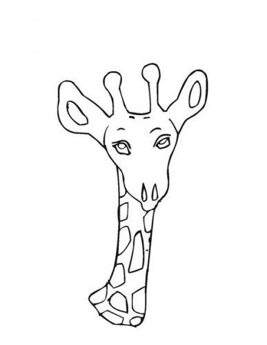 immagine giraffa da colorare pdf gratis