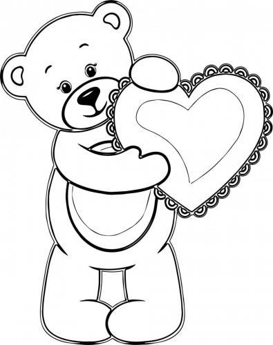 immagine orso da colorare