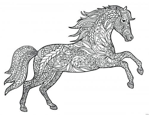 immagine stilizzata cavallo da stampare