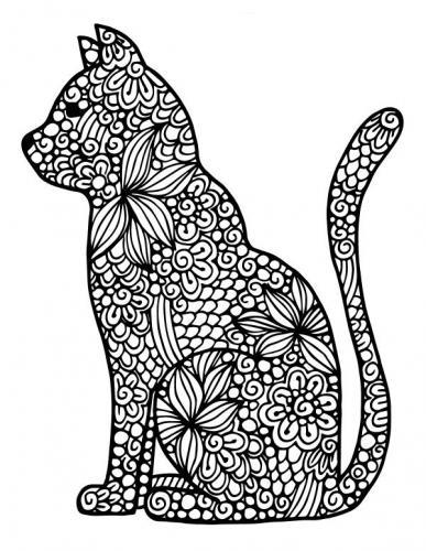 immagine stilizzata gatto per adulti