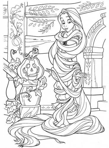 immgine Rapunzel da colorare