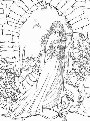 immagine donna con drago