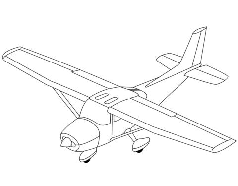 immagini aerei da colorare
