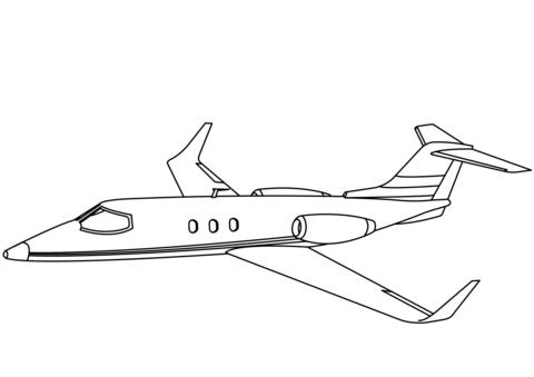 immagini aereo da colorare