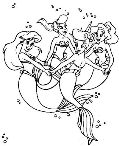 La sirenetta con le sue sorelle