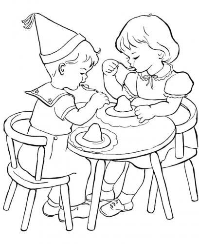 bambini che fanno festa