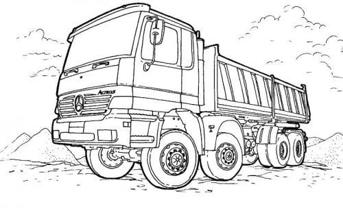 immagini camion da colorare