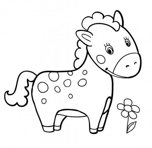 immagini cavalli da colorare e stampare