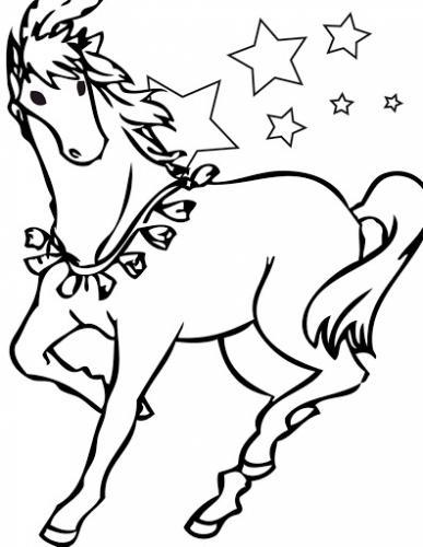 immagini cavalli da colorare