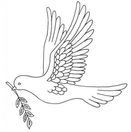 disegno colomba in volo