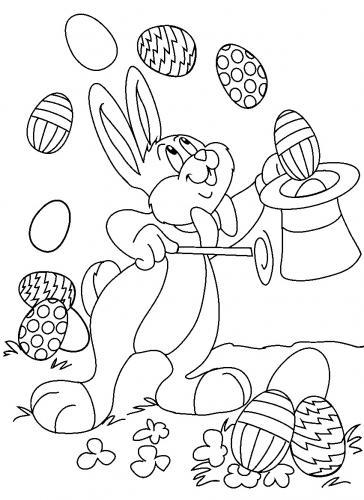 immagini coniglio da colorare