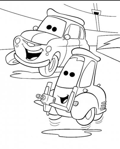 immagini da colorare cars