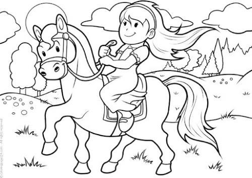 immagini da colorare di cavalli
