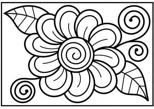 immagini da colorare di fiori