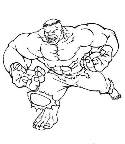 immagini da colorare di hulk