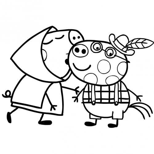immagini da colorare di peppa pig