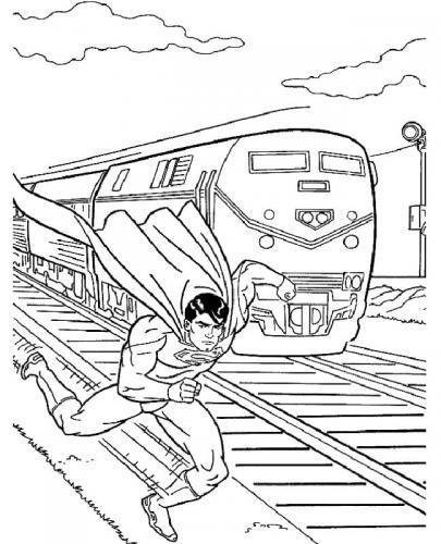 immagini da colorare di Superman