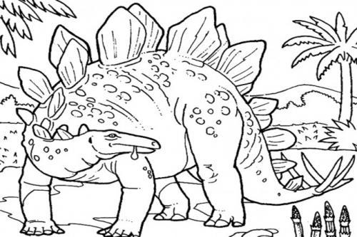 immagini da colorare dinosauri