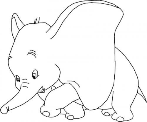 immagini da colorare Disney Dumbo