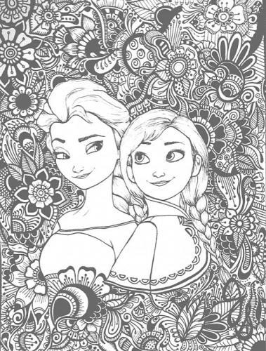 Elsa e Anna da colorare