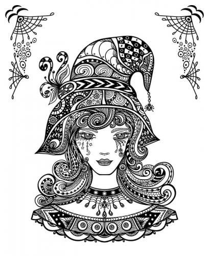 disegno di una strega