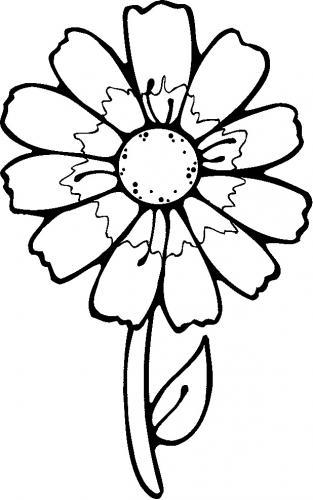 immagini da colorare fiori