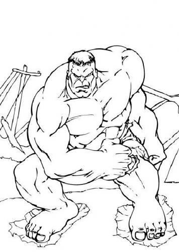 immagini da colorare hulk