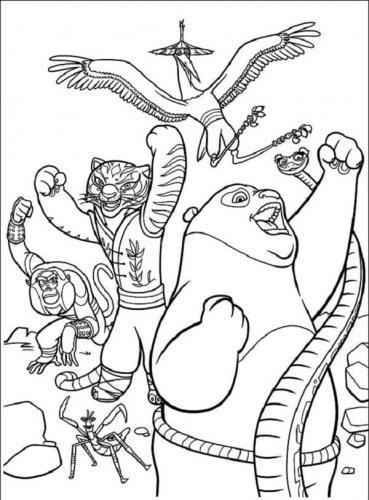 immagini da colorare Kung Fu Panda