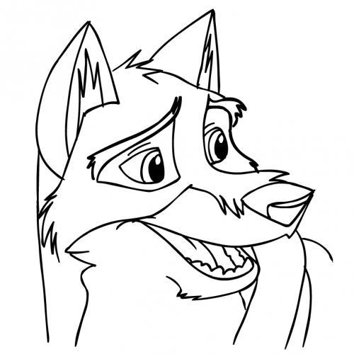 immagini da colorare lupo