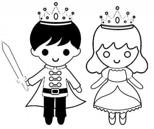 principessa e principe disegno