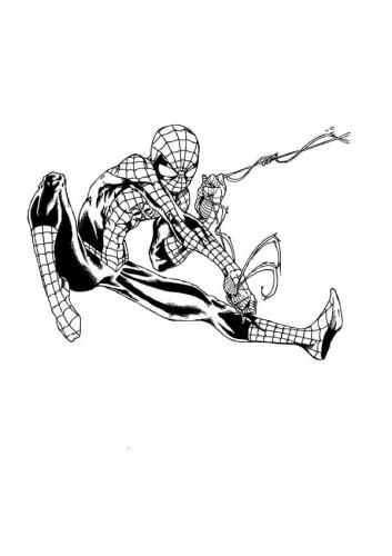 immagini da colorare spiderman gratis