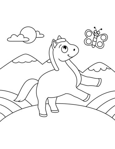 immagini da colorare sui cavalli