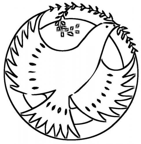 colomba in un cerchio