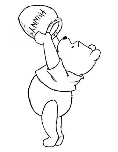 immagini da colorare winnie the pooh