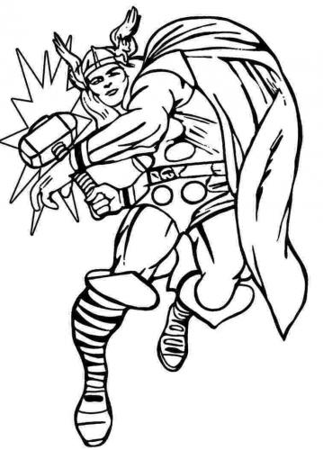 immagini da stampare Avengers Thor