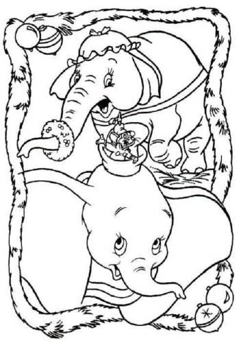 immagini da stampare Dumbo mamma Timoteo