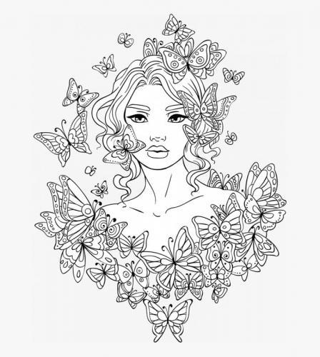 donna tra le farfalle