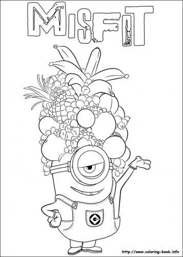 minions con un copricapo di frutta