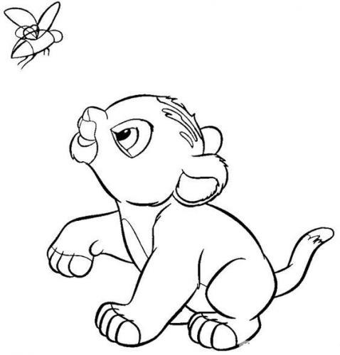 immagini del re leone da colorare