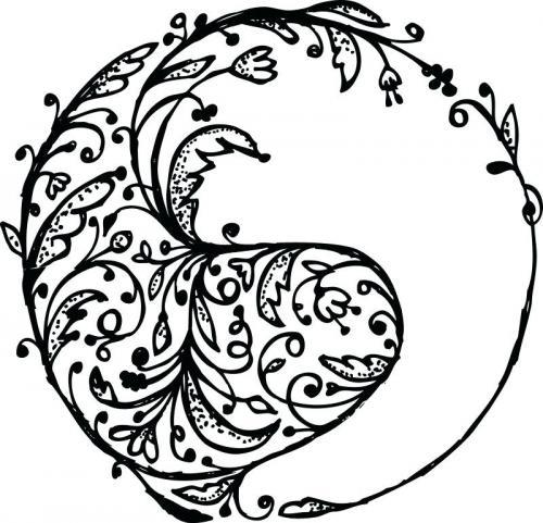 disegno Yin e Yang bello